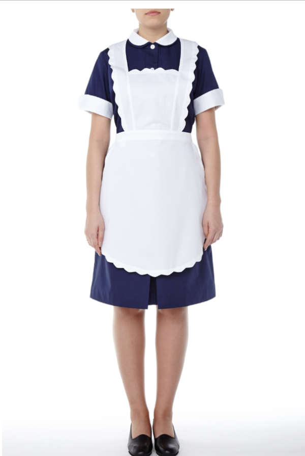 Laura Dress short sleeve with apron - Mercatores Professional Clothing