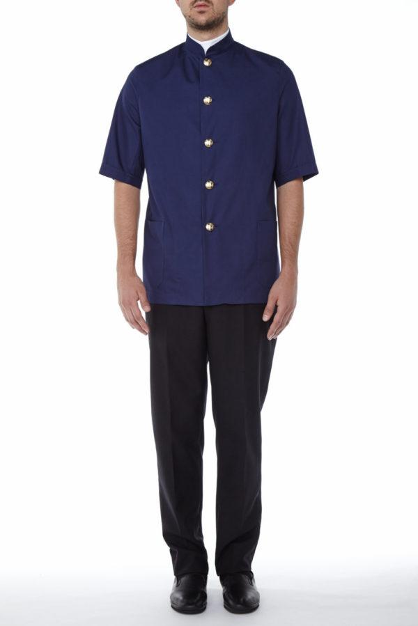 Ambrogio jacket short sleeve - Mercatores uniform for catering
