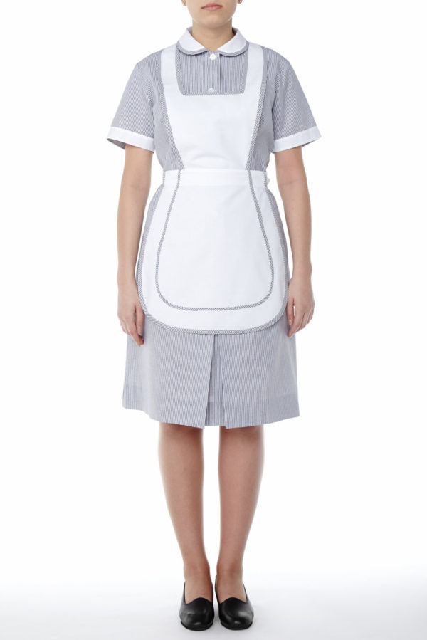 LAURA STRIPPED DRESS - MERCATORES CLEANER UNIFORMS